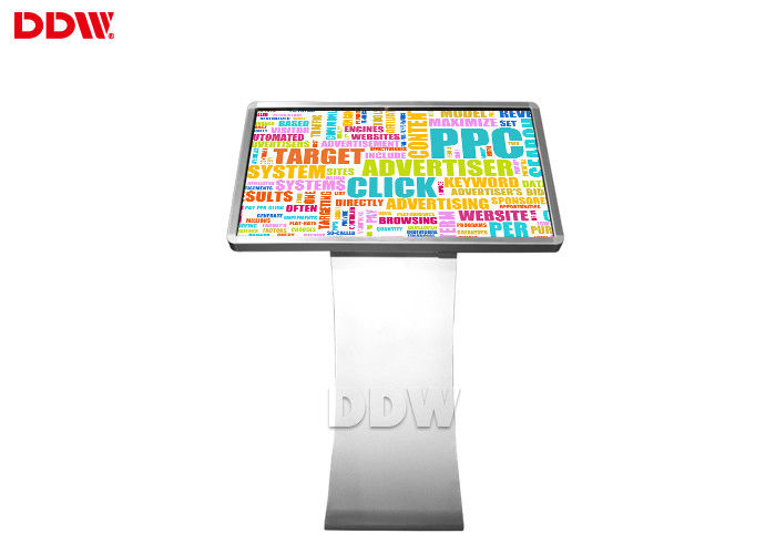 65 Inch 1920x1080 Resolution 500 ni't's Touch Screen Digital Signage Kiosk , Self Service Software Lcd Advertising Playe